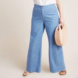ANTHRO: PILCRO High Rise Wide-Leg Trouser Jeans